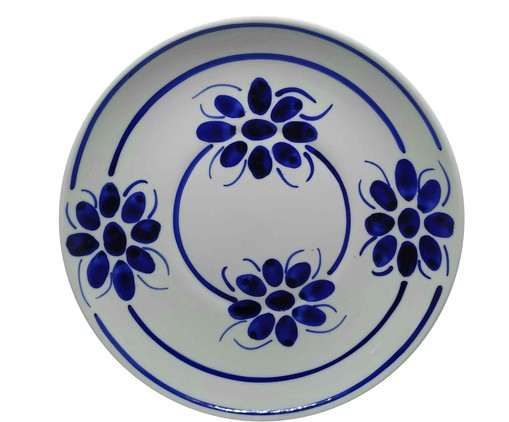 Prato Raso Floral - Azul, Azul | WestwingNow