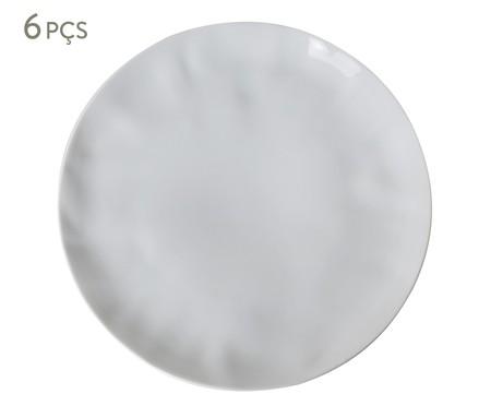 Jogo de Pratos Rasos em Porcelana Amboise - Branco | WestwingNow