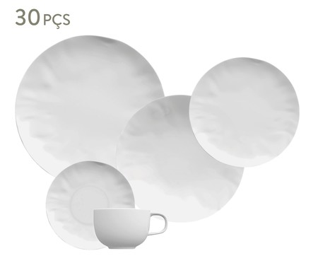 Jogo de Jantar em Porcelana Amboise Branco - 06 Pessoas   WestwingNow