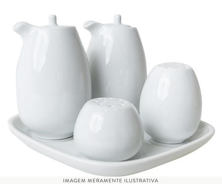 Galheteiro em Porcelana Brusque - Branco | WestwingNow