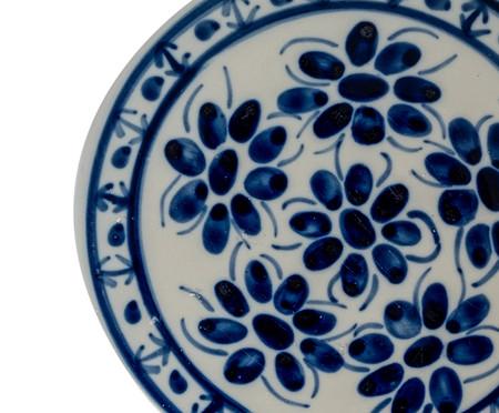 Prato para Sobremesa em Porcelana Colonial - Azul   WestwingNow