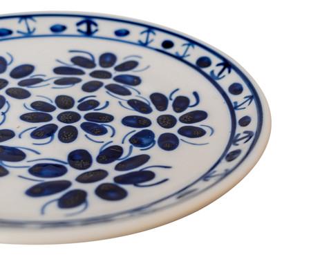 Prato para Sobremesa em Porcelana Colonial - Azul | WestwingNow