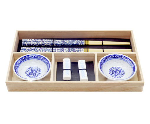 Jogo para Sushi Dan - 02 Pessoas, Azul | WestwingNow