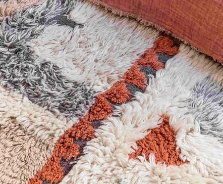 Tapete Assimétrico em Lã Natural Kachina - Bege e Cinza | WestwingNow