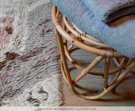 Tapete Assimétrico em Lã Natural Zuni - Cinza e Marfim | WestwingNow