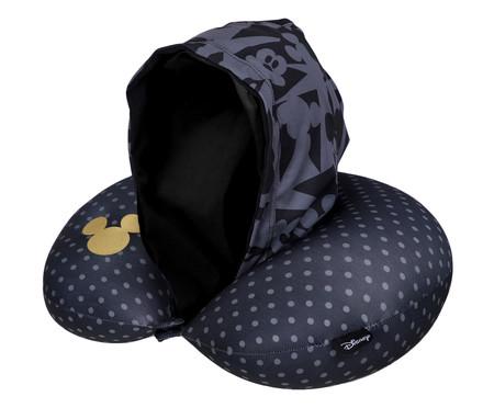 Almofada de Pescoço Geometric Mickey Preto - 30x10x30cm | WestwingNow
