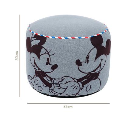 Puff Rolha Vintage Mickey - Cinza Mescla   WestwingNow
