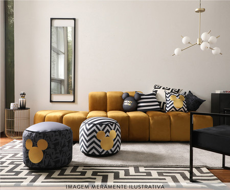 Almofada Frente e Verso Geometric Mickey Rosa - 40x40x12cm | WestwingNow