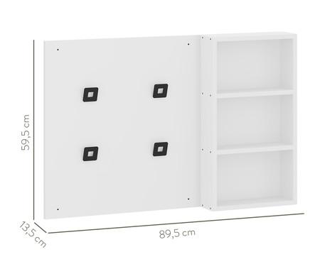 Painel Cabideiro Organizador Flow - Branco | WestwingNow