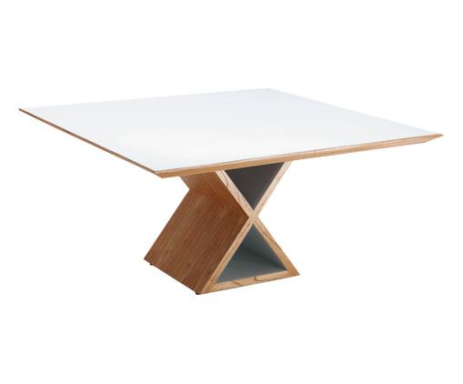 Mesa de Jantar Quadrado Requinte - Branco, Branco | WestwingNow