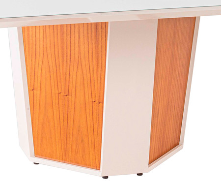 Mesa de Jantar Quadrado Monique - Branco | WestwingNow