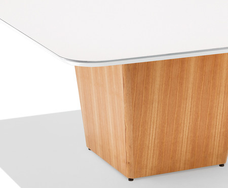 Mesa de Jantar Quadrado Gabriella - Branco | WestwingNow