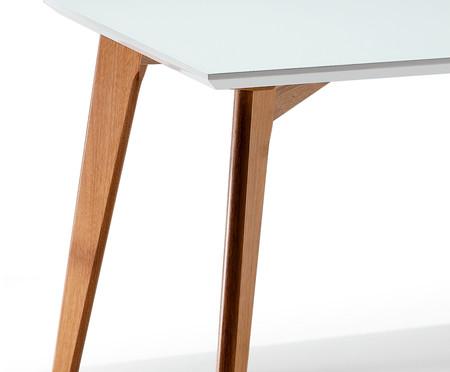 Mesa de Jantar em Vidro Retangular Fernanda - Branco | WestwingNow