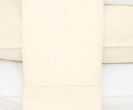 Jogo de Lençol Basic Branco e Palha - 250 Fios | WestwingNow