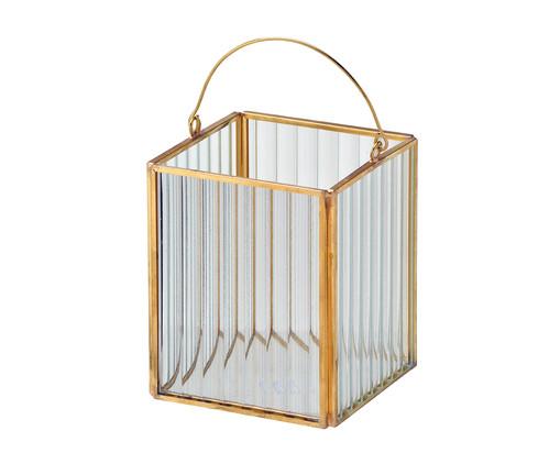 Lanterna Decorativa Julia - Dourado, Transparente e Dourado   WestwingNow