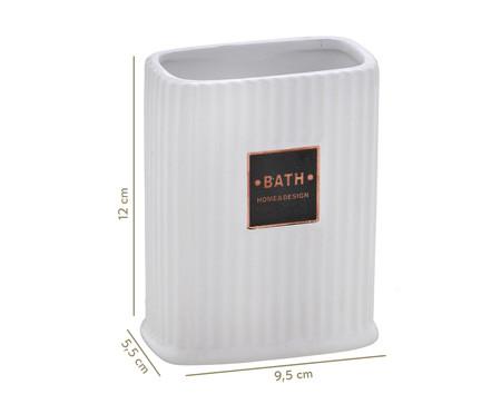 Porta-Escova em Cerâmica Goulard - Branco | WestwingNow