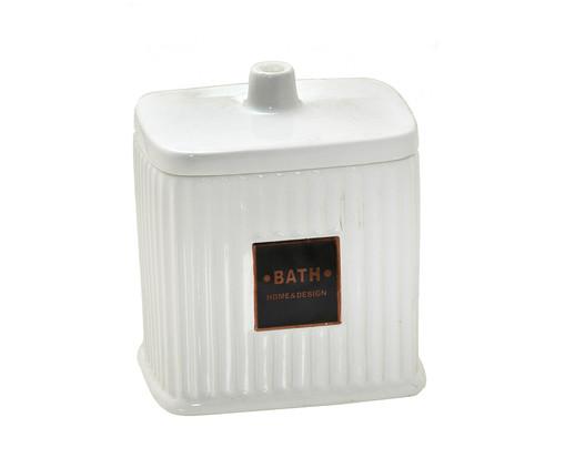 Porta-Algodão em Cerâmica Goulard - Branco, Branco | WestwingNow