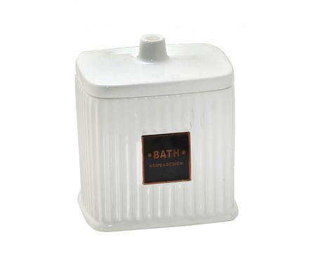 Porta-Algodão em Cerâmica Goulard - Branco | WestwingNow