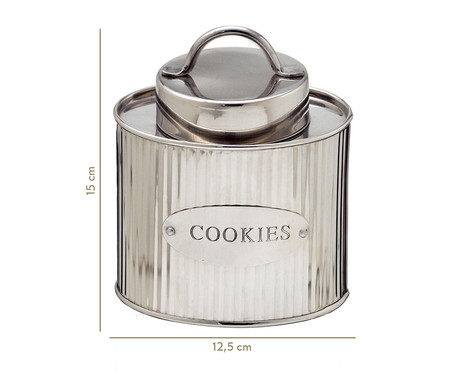 Pote de Cookies Odessa - Prata | WestwingNow