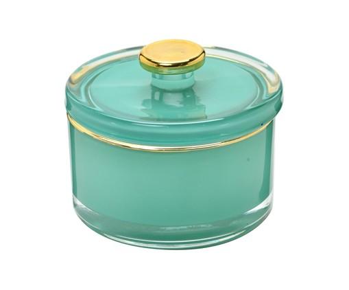 Pote Decorativo de Vidro Boni - Verde, Verde e dourado   WestwingNow