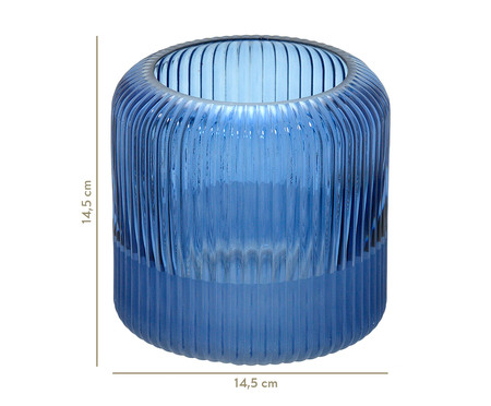 Vaso de Vidro Ionne - Azul | WestwingNow
