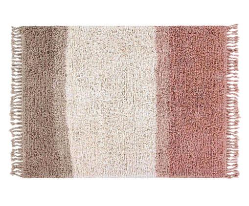Tapete Assimétrico em Lã Natural Spring, Rosa | WestwingNow