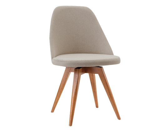 Cadeira Fixa Lucy - Bege, Cinza | WestwingNow