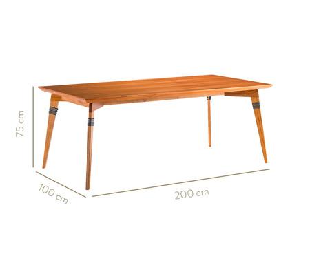 Mesa de Jantar Retangular Moza - Natural e Azul | WestwingNow