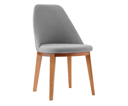 Cadeira de Madeira Lisa - Cinza Escuro   WestwingNow