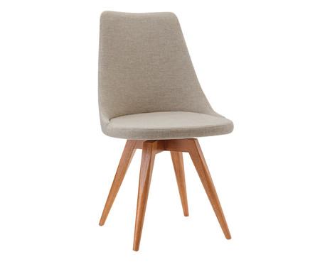 Cadeira em Madeira e Tecido Ella - Bege | WestwingNow