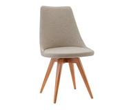 Cadeira em Madeira e Tecido Ella - Creme | WestwingNow