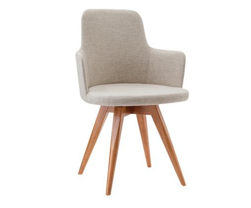 Cadeira Giratória de Madeira Tina - Creme, Bege | WestwingNow