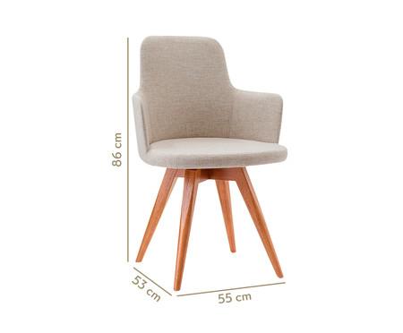 Cadeira Giratória de Madeira Tina - Branco e Creme | WestwingNow