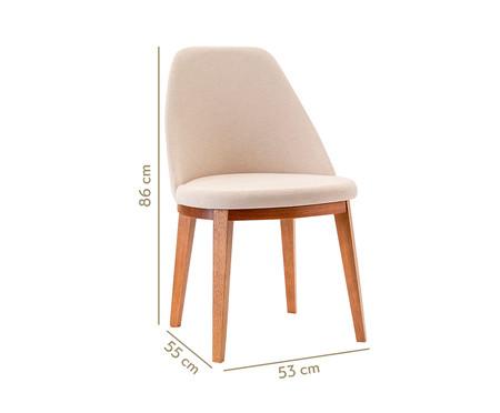 Cadeira de Madeira Lisa - Amêndoa | WestwingNow