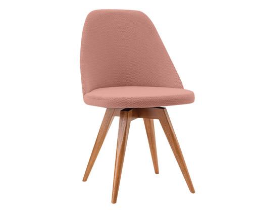 Cadeira Fixa em Madeira Lucy - Salmão, Rosa | WestwingNow