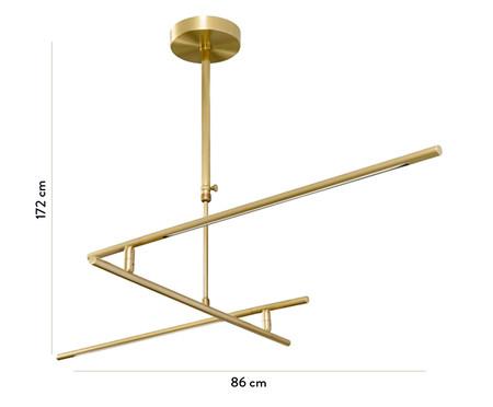 Lustre de Led Fini Dourado - Bivolt   WestwingNow