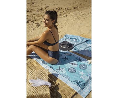 Jogo de Toalhas de Praia Aveludadas Oceano - 280G/M² | WestwingNow
