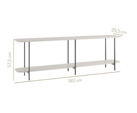 Sofa Table Iron - Off White e Preto | WestwingNow