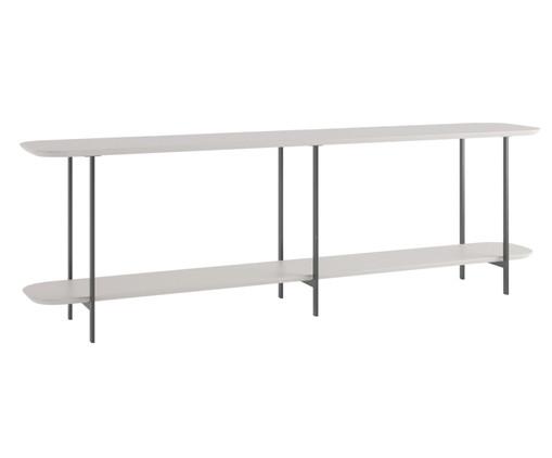 Sofa Table Iron - Off White e Preto, Bege   WestwingNow