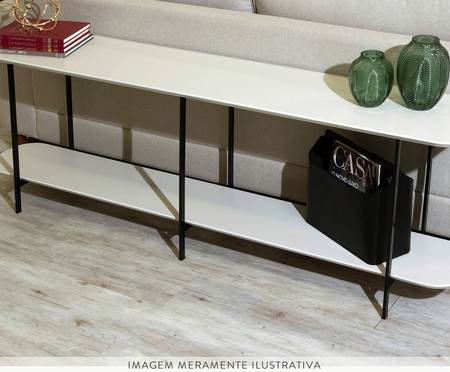 Sofa Table Iron - Off White e Preto | WestwingNow