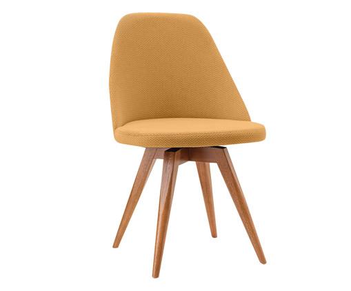 Cadeira Fixa em Madeira Lucy - Mostarda, Amarelo | WestwingNow
