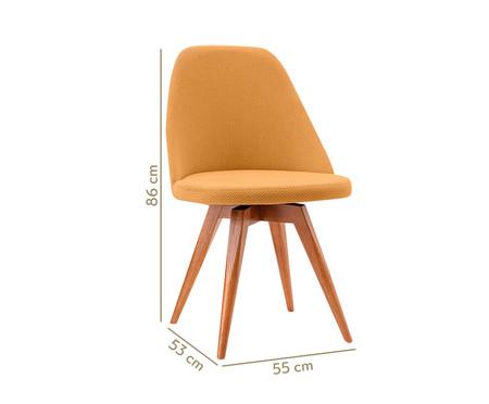 Cadeira Fixa em Madeira Lucy - Mostarda   WestwingNow