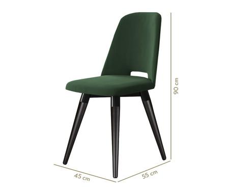 Cadeira Selina Giratória - Verde e Preta | WestwingNow