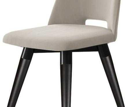 Cadeira Selina Giratória - Cru e Preta | WestwingNow