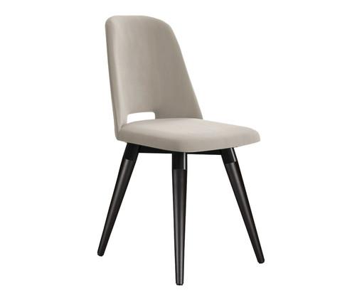 Cadeira Selina Giratória - Cru e Preta, Preto | WestwingNow