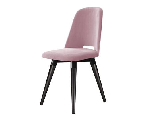 Cadeira Selina Giratória - Rosê, Preto | WestwingNow
