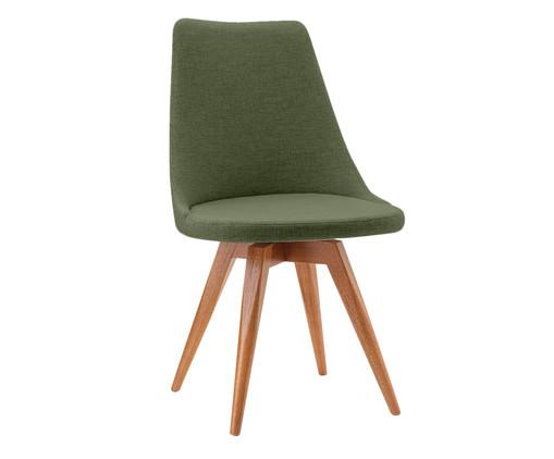 Cadeira em Madeira e Tecido Ella - Verde, Verde | WestwingNow