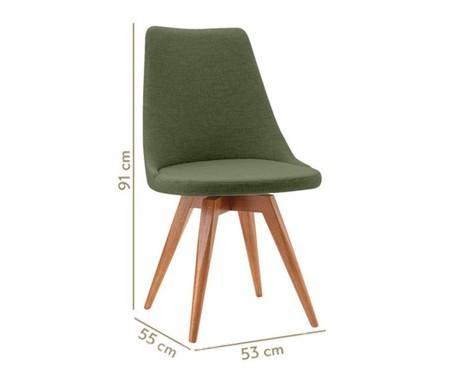 Cadeira em Madeira e Tecido Ella - Verde | WestwingNow