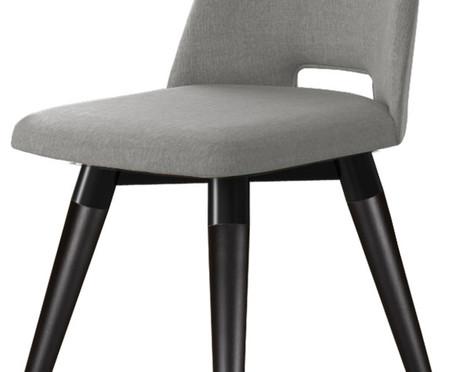 Cadeira Selina Giratória - Cinza e Preta | WestwingNow