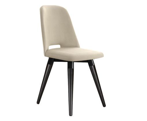 Cadeira Selina Giratória - Bege e Preto, Preto | WestwingNow